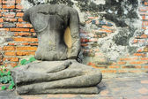 Buddha statue without head — Foto de Stock
