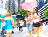 Singapore busy street — Stok fotoğraf