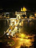 Budapeszt nocą — Zdjęcie stockowe