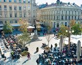Zagreb plein — Stockfoto