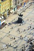 Centrální náměstí Záhřeb — Stock fotografie