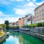 Ljubljana canal — Stock Photo #46350181