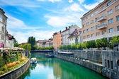 Canal de ljubljana — Fotografia Stock