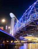 Night view of Helix Bridge  — Stock Photo