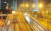 Hong Kong road at night — Stockfoto