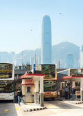 Bus station in Hong Kong — Stock Photo