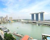 Baía de singapura — Foto Stock