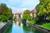 Ljubljana river — Stock Photo
