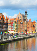 Gdansk embankment — Stock Photo