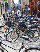 Parking of bycycles — Stock Photo