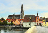 Regensburg architecture — Stock Photo