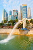 Merlion fountain, Singapore — Stock Photo