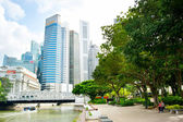 Downtown Core park, Singapore — Stock Photo