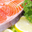 Raw salmon — Stock Photo #12472199
