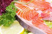 Raw salmon — ストック写真