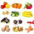 Collection vegetables — Stockfoto