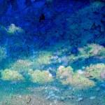 Retro cloudy sky — Stock Photo