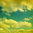 Stock Photo: Retro cloudy sky
