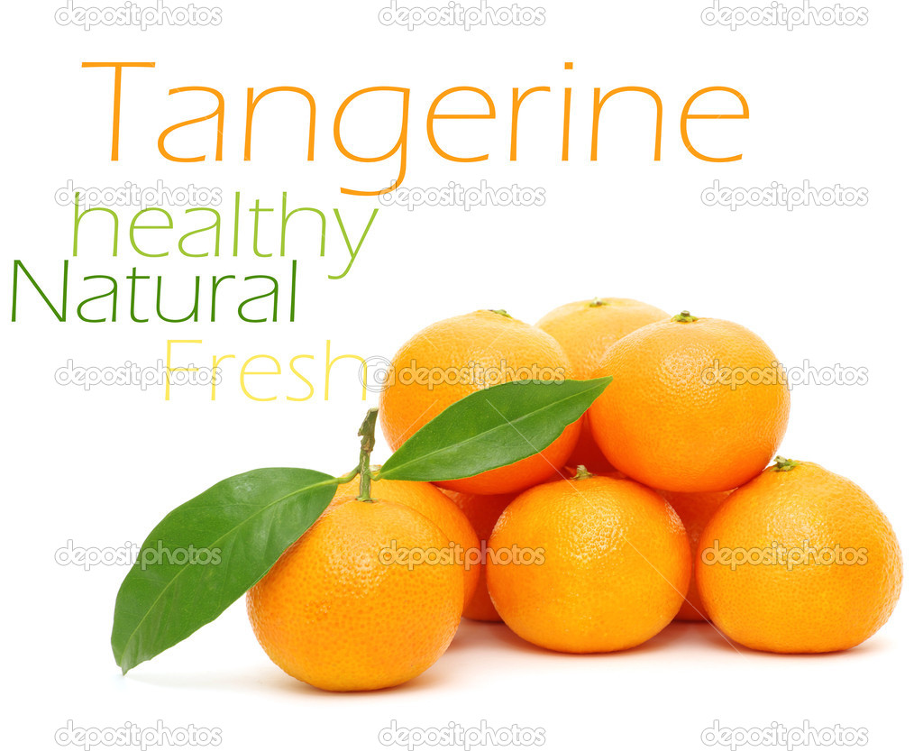 Tangerine isolated on a white background — Stock Photo #13675480
