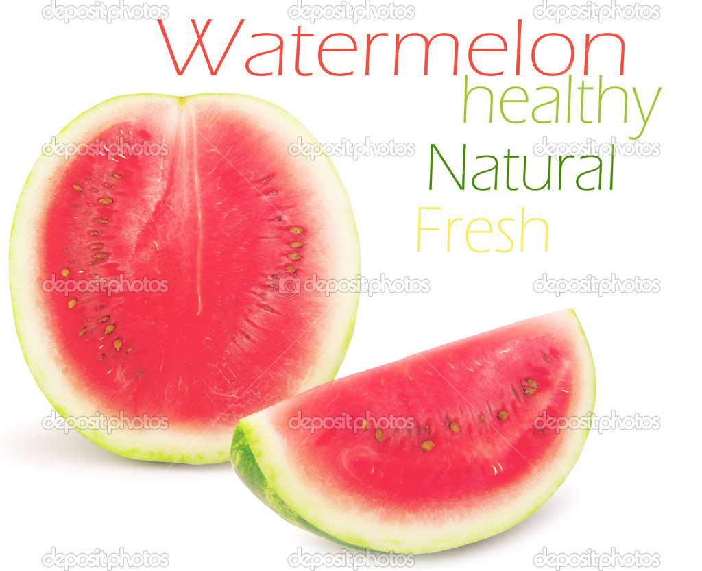 Watermelon isolated on white background — Stock Photo #13675484