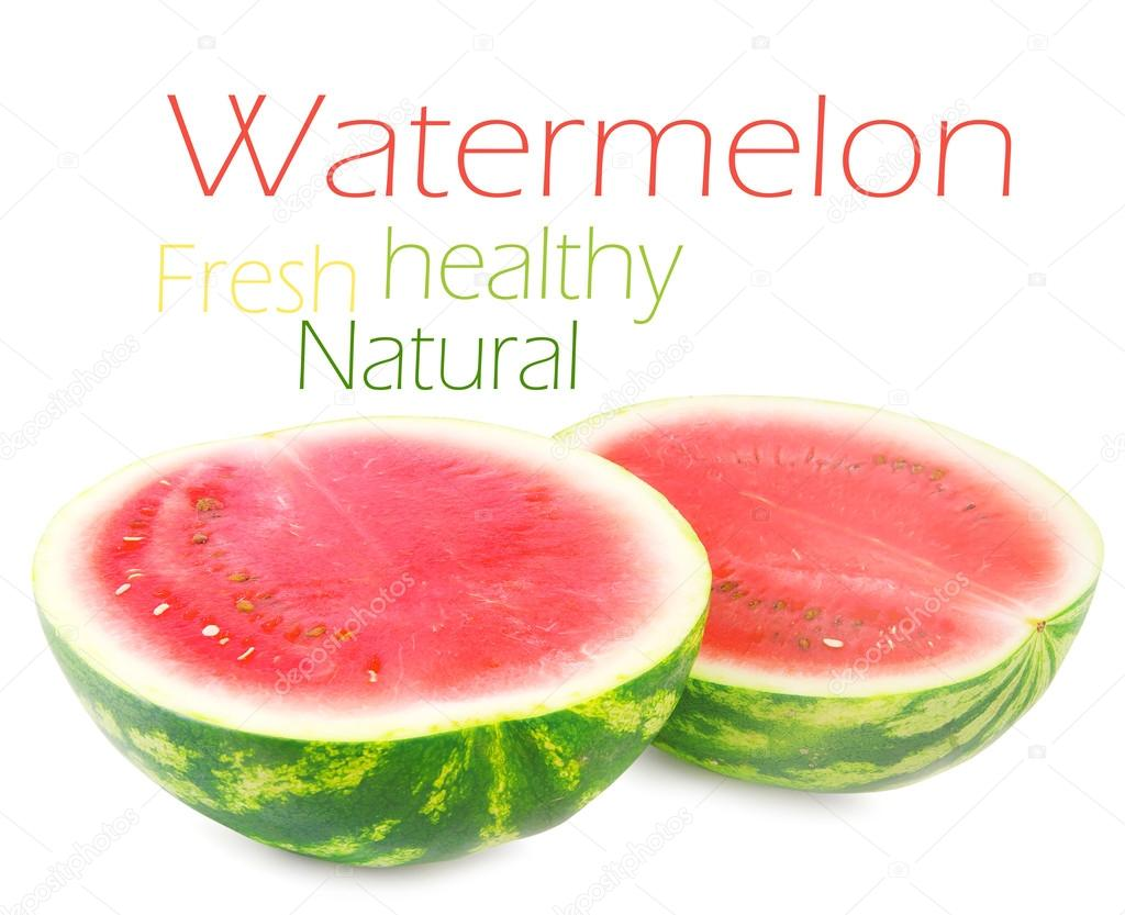 Watermelon isolated on white background — Stock Photo #13675498
