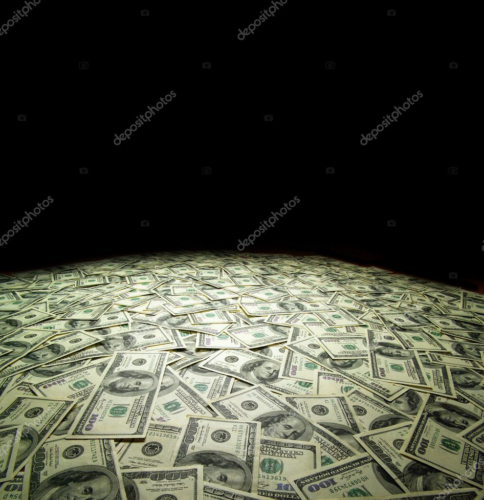 American dollars arranged at the background  Stock Photo #15843593