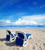 Beach and tropical sea — Стоковое фото