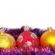 Christmas tinsel and toys — Stock Photo #1625224