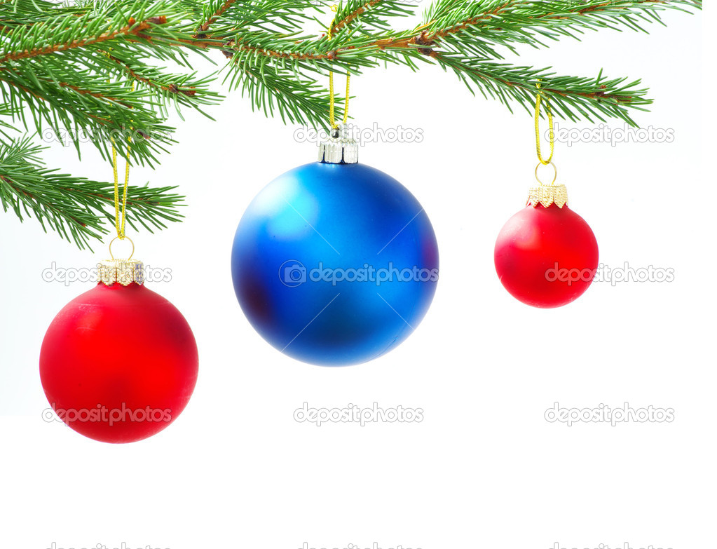 Christmas balls isolated on the white background — Stock Photo #16641641