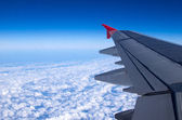 Airplane Airplane wing — Stock Photo