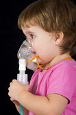 Baby patient in mask — Stock Photo