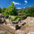ancient ruins in dion — Stock Photo