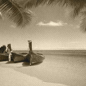 Grunge beach — Foto de Stock