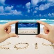 Stock Photo: Touchscreen smart phone