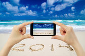 Touchscreen smart phone — Stock Photo