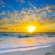 Sunset above the sea — Stock Photo