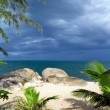 Beach and tropical sea — Stock Photo