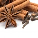 Cloves, anise and cinnamon — Stock Photo