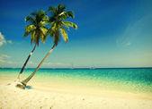 Grunge beach — Stock Photo