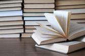 Books on deck — Stock Photo