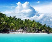 Vacker strand och tropiska havet — Stockfoto