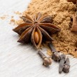 Dried Cloves with anise — Stock Photo