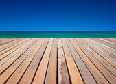 Stranden brygga — Stockfoto