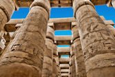 Close up of columns covered in hieroglyphics — Stock Photo