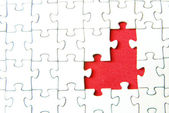 White puzzles for background — Stock Photo