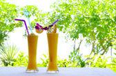 Glasses with juice — Stock Photo