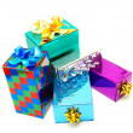 Christmas box gifts — Stock Photo #7465743