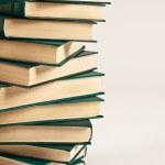 Pile of books on white background — Stock Photo #18043147