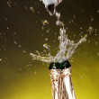 Close-up of champagne explosion — Stock Photo