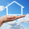 House in the sky — Stock Photo